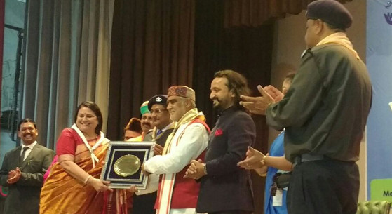 Congratulations Mrs. Manju Rana for receiving Lord Beden Powell National Award for Academic Leadership on World Scouts Day Celebration 22 Feb'18.
